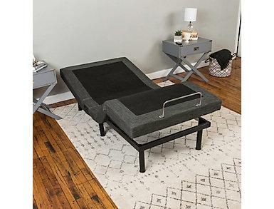Adjustable Comfort Upholstered Bed Base, Queen, , large
