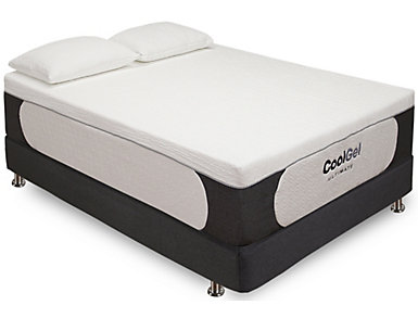 Classic Brands 14-Inch Cool Gel Memory Foam Queen Mattress, , large
