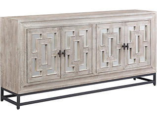 Artemis Mirrored 4 Door Sideboard, , large