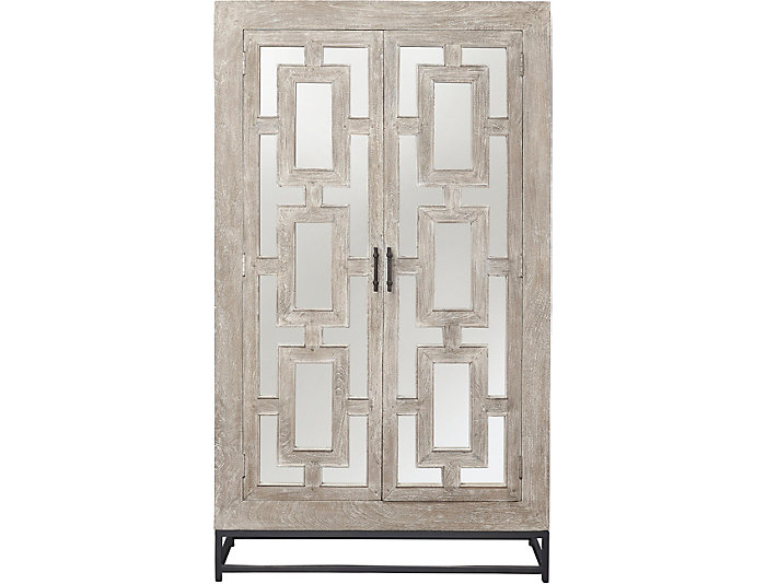 Exceptionnel Artemis Mirrored 2 Door Tall Cabinet, , Large