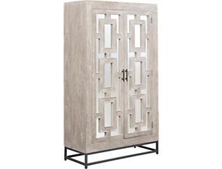 Artemis Mirrored 2-Door Tall Cabinet, , large