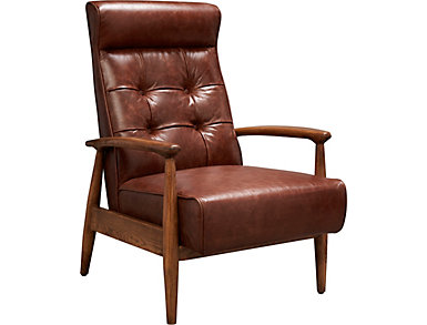 Murphy Accent Chair, Brown, , large