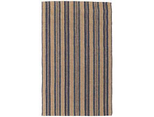 Seagrass Navy Stripe 8x10 Rug, , large