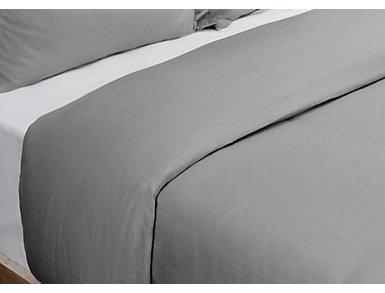 Harlow Gray Queen Duvet 92x90, , large