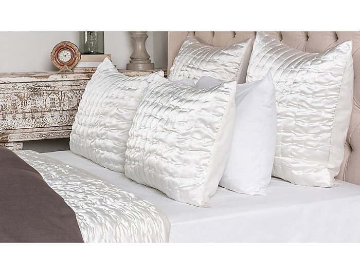 Aura Ivory King Quilt 108x96, , large