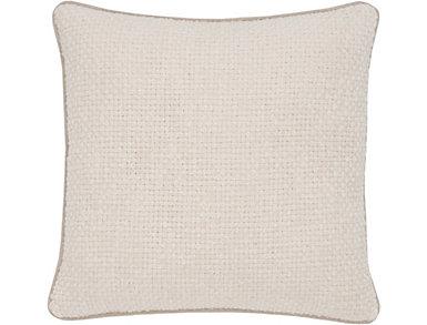 Dekker Ivory Velvet Pillow, , large
