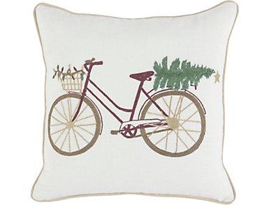 Bicycle & Tree Pillow, , large