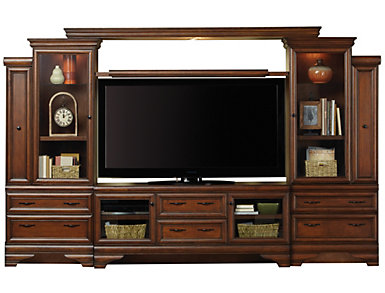"Sienna Wall with 64"" Console, Chestnut, , large"
