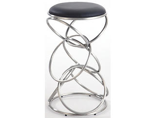 Rings Black Counter Stool, , large
