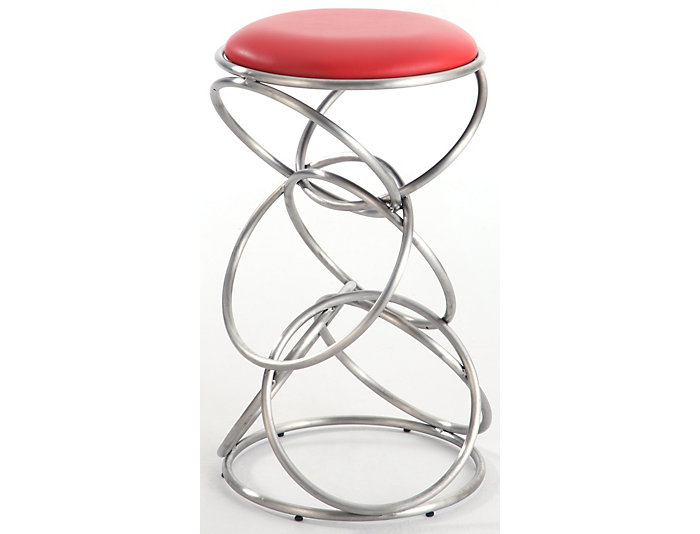 Rings Red Counter Stool, , large
