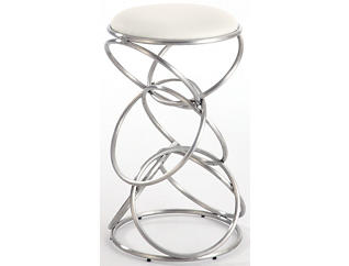 Rings White Counter Stool, , large