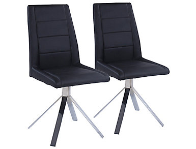Channel Black Chair Set of 2, , large