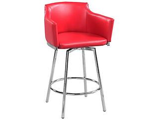 Red Club Bar Stool, , large