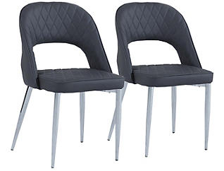 Grey Open Chair Set of 2, , large