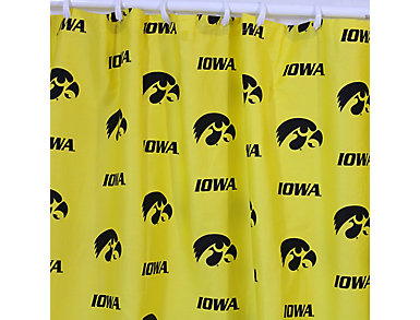 Iowa Hawkeyes Shower Curtain, , large