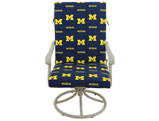 Wolverines 2pc Chair Cushion, , large