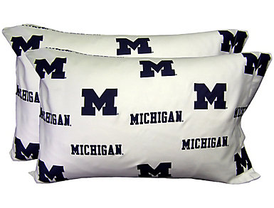 Wolverines White Pillowcase, , large