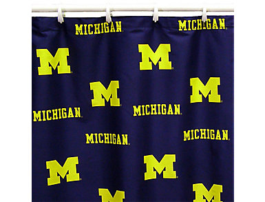 Wolverines Shower Curtain, , large