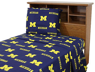 Wolverines Blue Twin Extra Long Sheets, , large