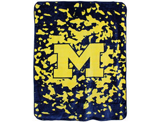 Wolverines Throw Blanket, , large