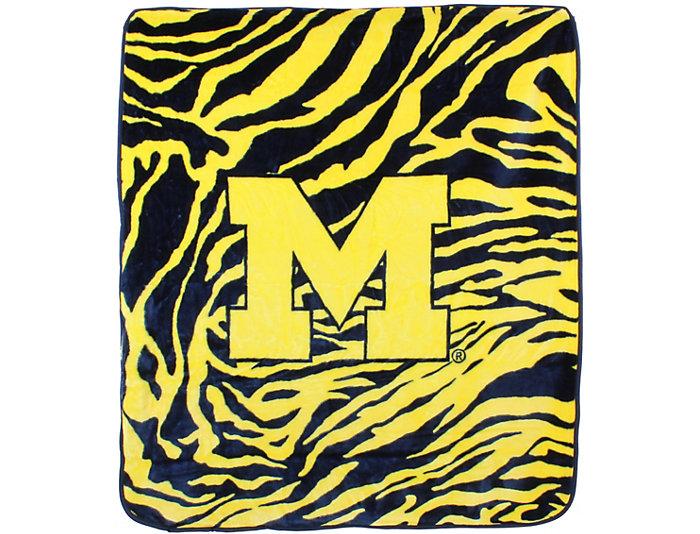 Wolverines Zebra Blanket, , large