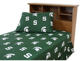 Spartans Green Twin Extra Long Sheets, , large