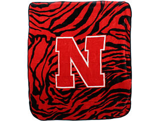 Nebraska Zebra Blanket, , large