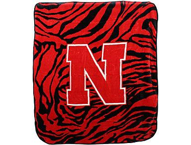 Nebraska Zebra Blanket, , large