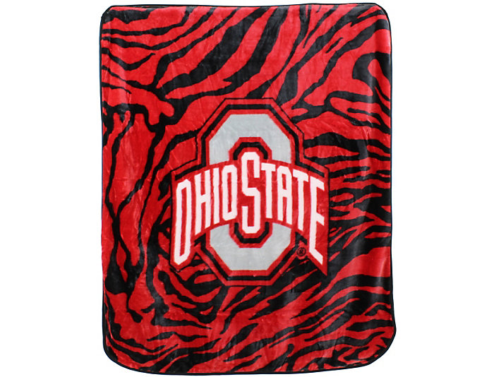 Ohio State Zebra Blanket, , large
