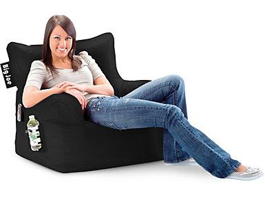 Big Joe Dorm Chair - Black, , large