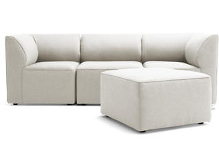 Fulton Beige 4pc Sectional, , large