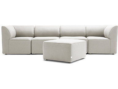 Fulton Beige 5pc Sectional, , large