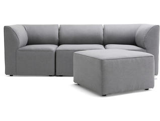 Fulton Grey 4pc Sectional, , large