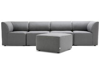 Fulton Grey 5pc Sectional, , large