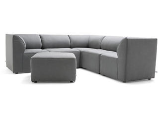 Fulton Grey 6pc Sectional, , large