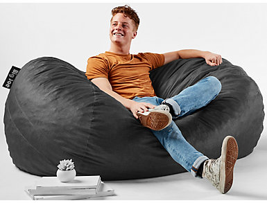 Big Joe Media Lounger Chair, Black, large