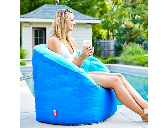 Phenomenal Bay Aqua Pool Bean Bag Chair Art Van Home Gmtry Best Dining Table And Chair Ideas Images Gmtryco