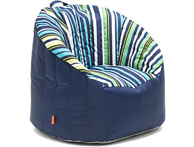Bay Stripe Pool Bean Bag Chair, , large