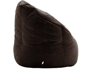 Big Joe Milano Bean Bag Chair, Brown, large