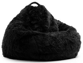Big Joe Fur Bean Bag, Black, , large