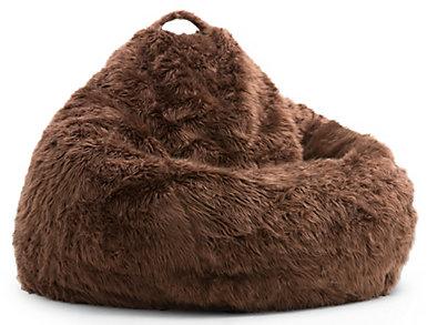 Big Joe Fur Bean Bag, Brown, large