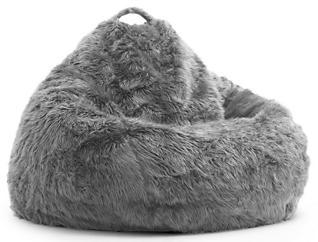 Big Joe Fur Bean Bag, Grey, , large