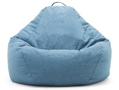 Big Joe Blue Union Bean Bag, Blue, large