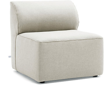 Fulton Beige Armless Chair, , large