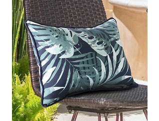 Navy/ Palm Lumbar Dec Pillow, , large