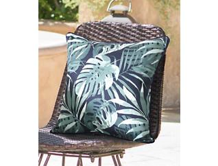 Navy/Palm Decorative Pillow, , large