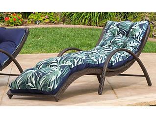 Navy/Palm Lounger Cushion, , large