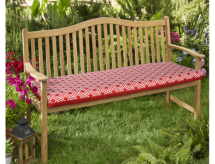 Ruby Red Bench Seat Cushion