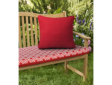 "Ruby Red Solid 18"" Sq Pillow, , large"