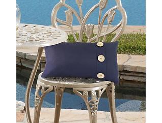Navy Decorative Lumbar Pillow, , large